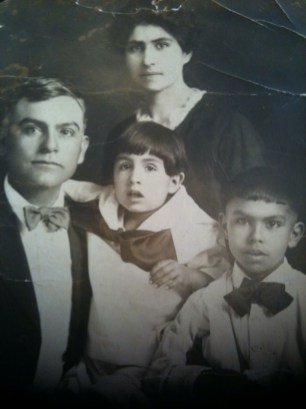 Cristóval and Rose (García) Portillo with sons Frederick and Cristóbal