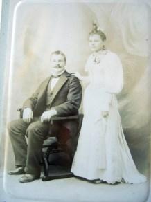 Frederick Brunk (1862-1943) and Barbara Stoltz (1870-1923) on their wedding day