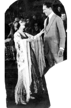 Jovita (Garcia) Higgins Cunningham (1893-1984) With unknown Hollywood director