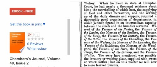 Yeoman of the Scullery in the time of Cardinal Wolsey of England