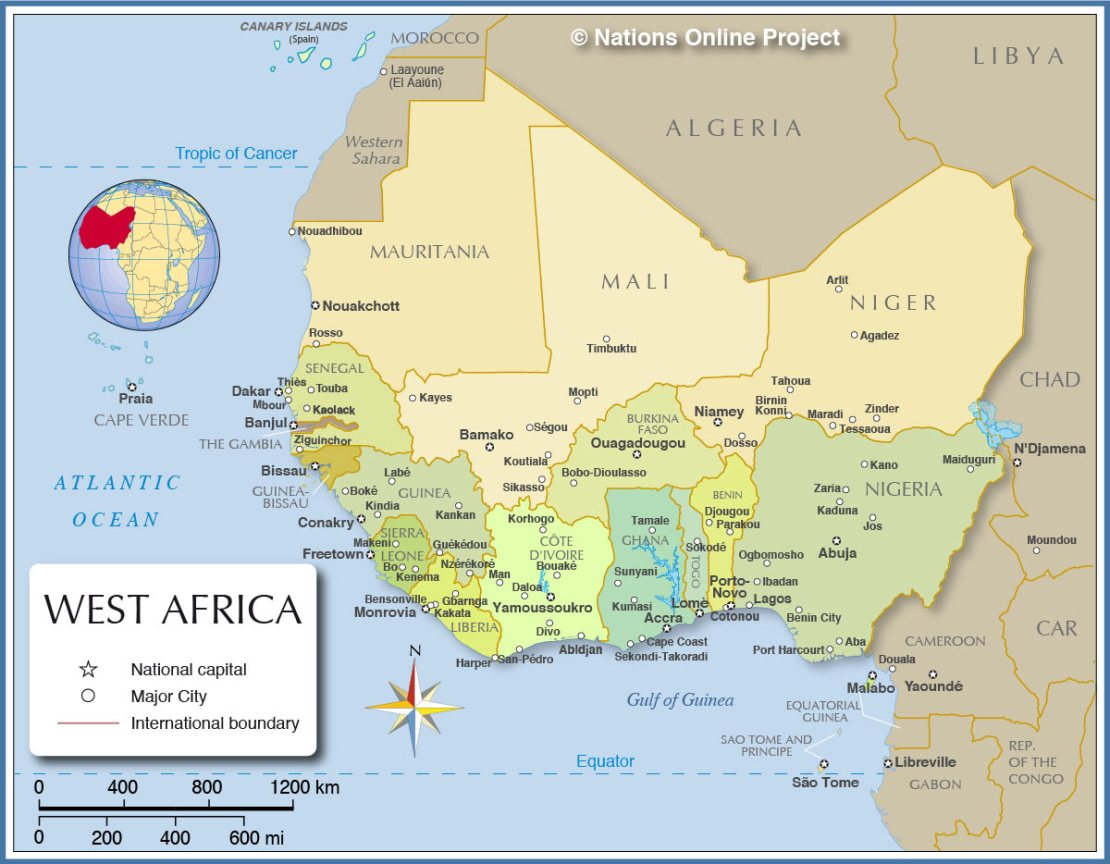 west-africa-political-map