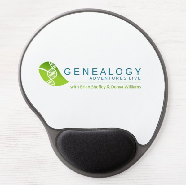 Genealogy Adventures Live! Gel Mouse Pad