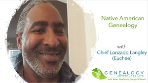 Native American genealogy with Chief Lonzado Langley image