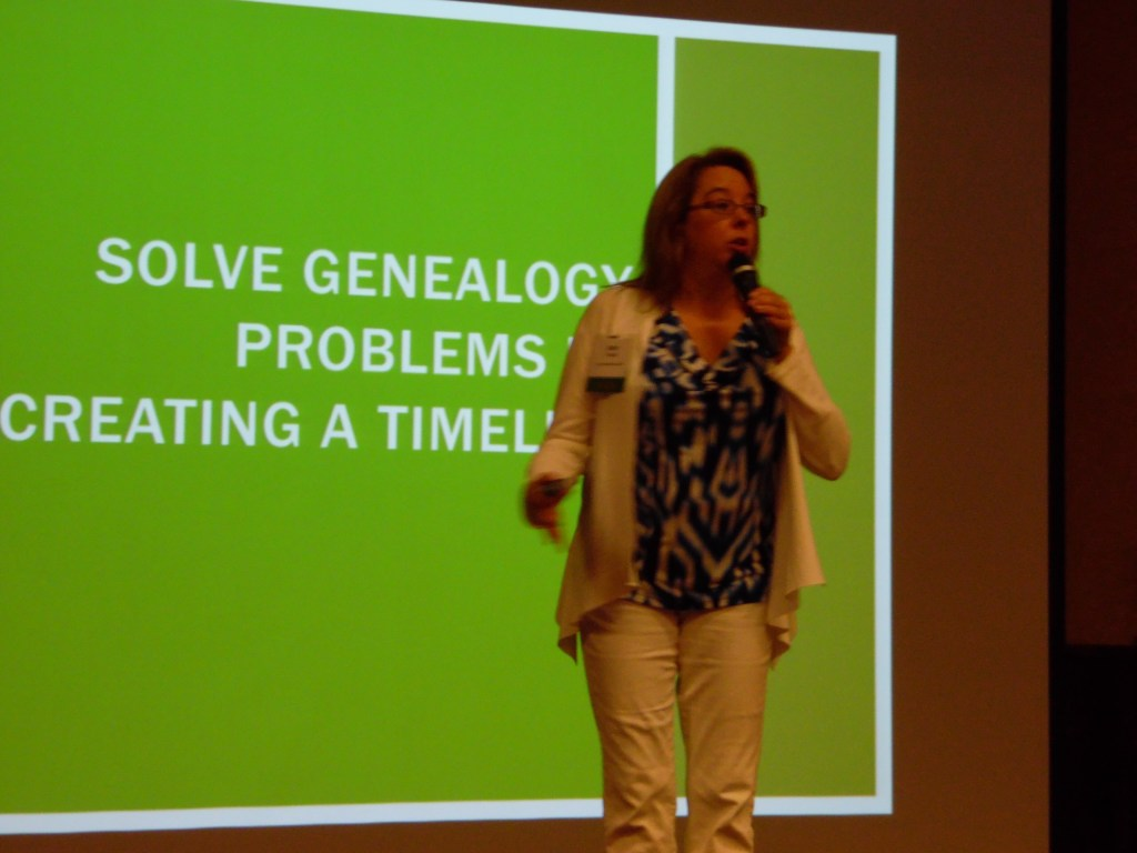 Beth Foulk presenting at Missouri State Genealogy Assn Conference