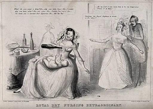 Drunken wet nurse to Prince of Wales (later Edward VII)