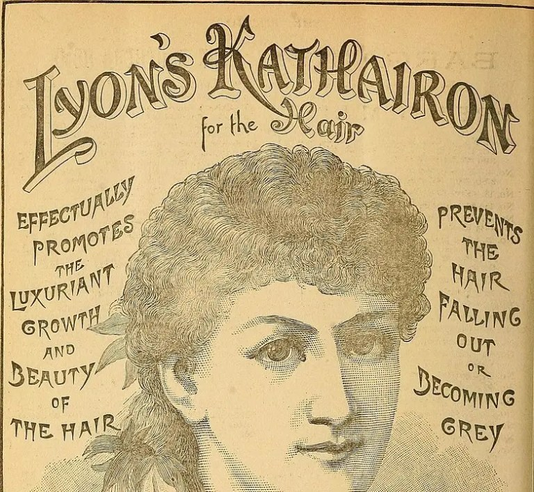 Advert for women's hair products