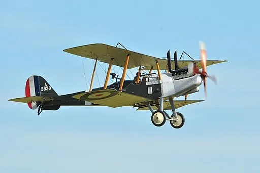 R.E. 8 aircraft, a part of the Pither WWI family history