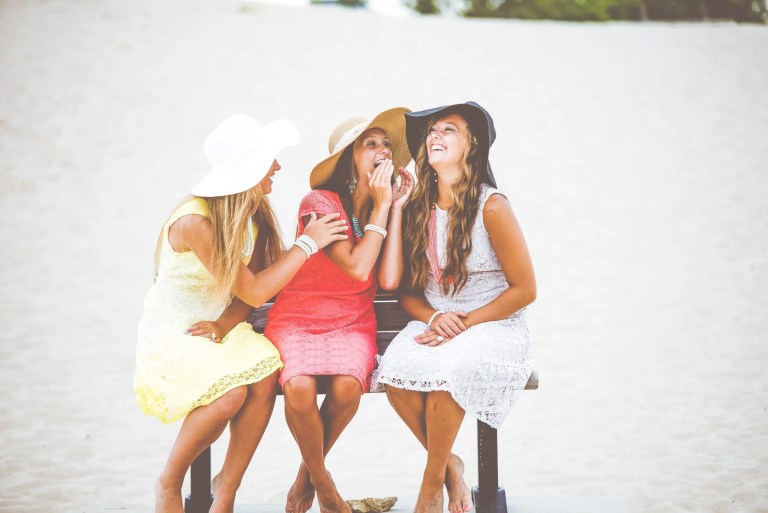 Group of girls laughing at a story