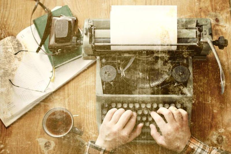 Writing using typewriter