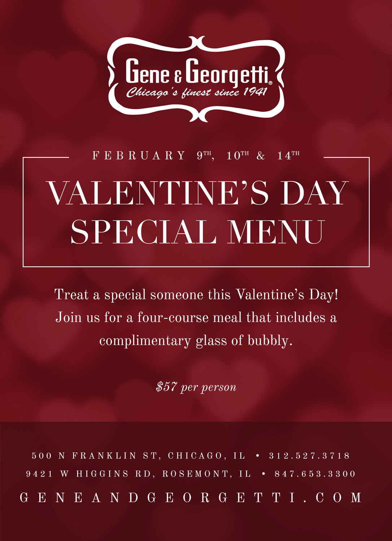 Celebrate Valentines Day At Gene Amp Georgetti Gene And