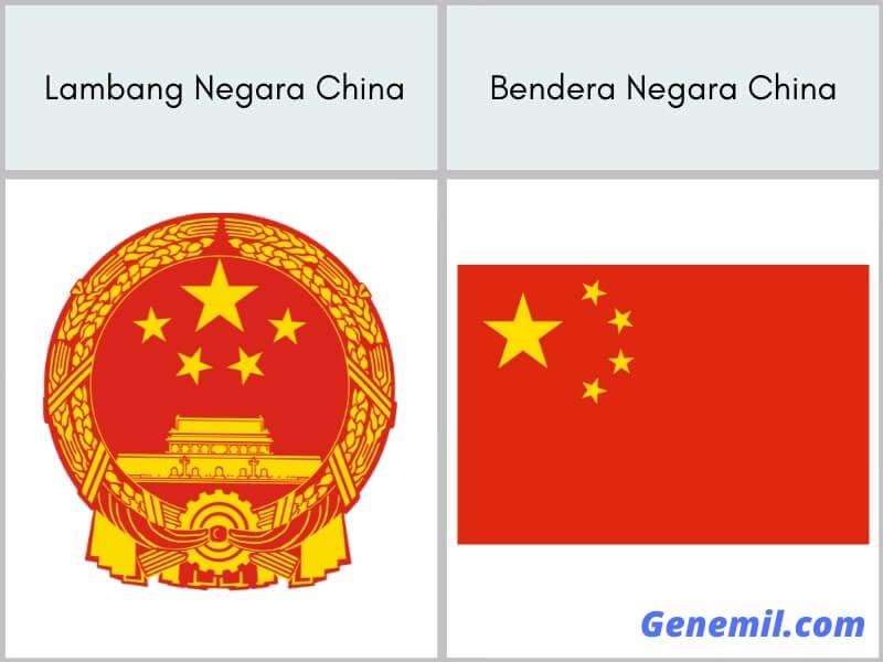 lambang negara dan bendera china