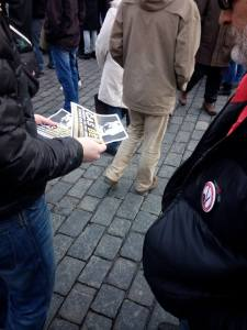 Generace Identity v ulicích Prahy.