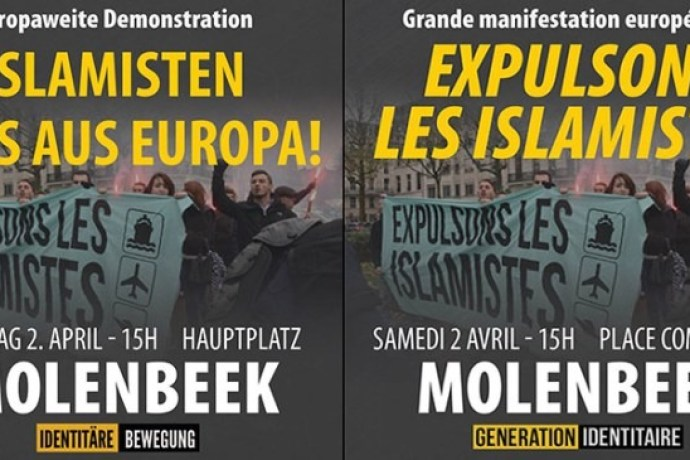 Grande manifestation européenne le 2 avril à Molenbeek : « Expulsons les islamistes ! »