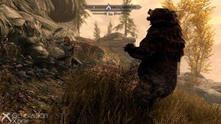 Donjolf no tiene miedo de enfrentarse a un oso.
