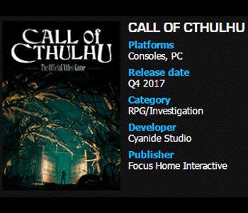 Call of Cathulhu estreno fecha Generacion Xbox