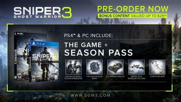 A CI Games no le interesan los usuarios de Xbox que reserven Sniper Ghost Warrior III, solo los de PS4 y PC