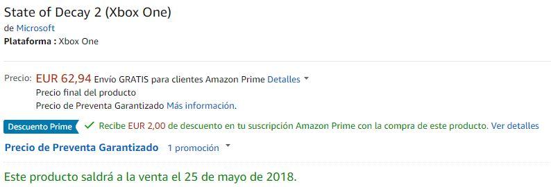[Desmentido] Amazon España filtra la posible fecha de Crackdown 3 y State of Decay 2