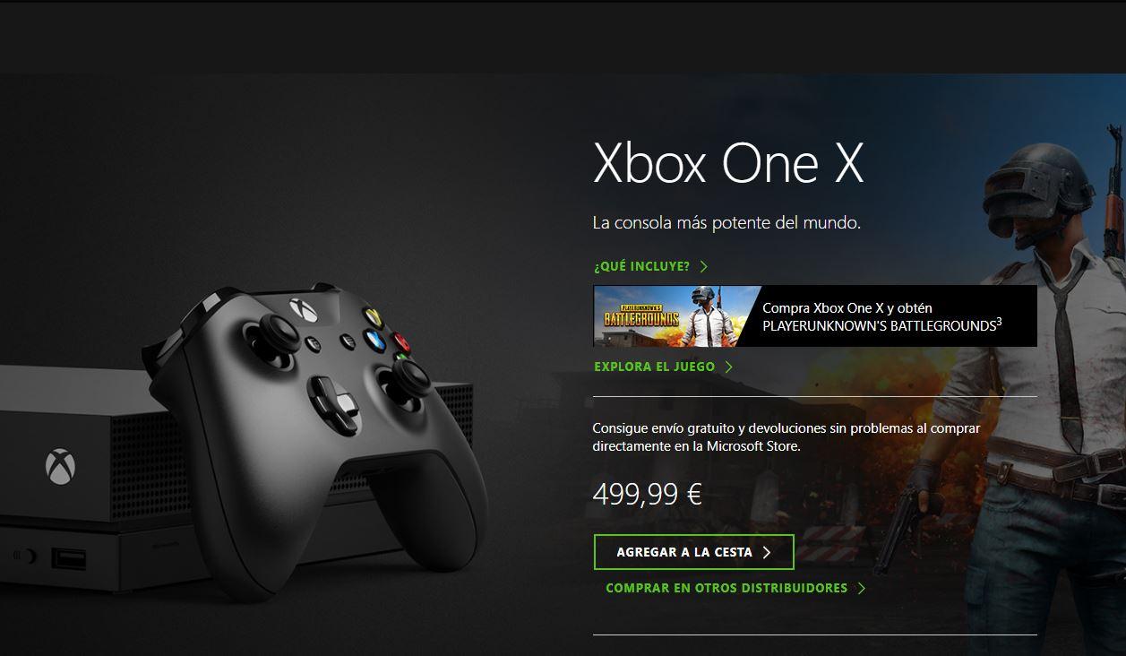 Vuelve El Pack De Xbox One X Y XBox One S Junto A PUBG Y