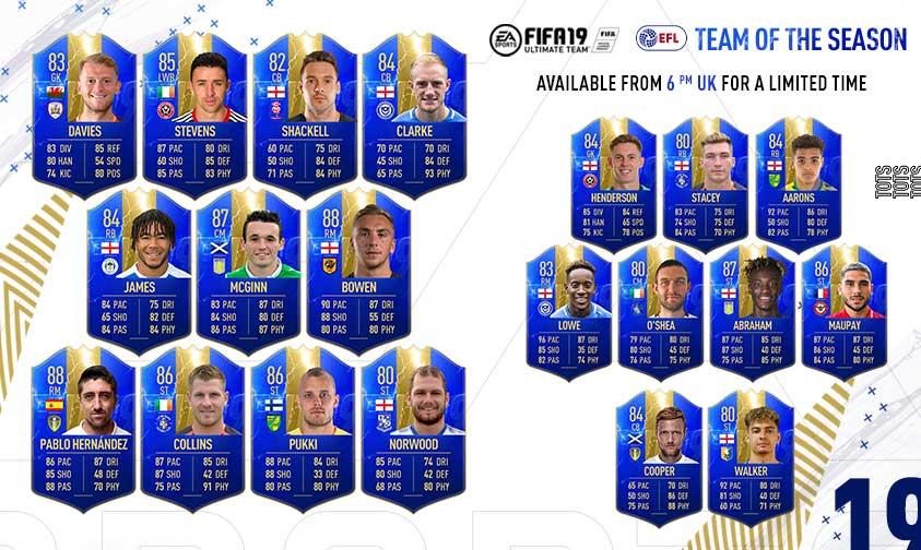 FIFA 19: Anunciados los primeros equipos de la Temporada (TOTS)