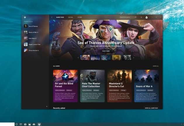 Captura de la nueva aplicación de Xbox 1