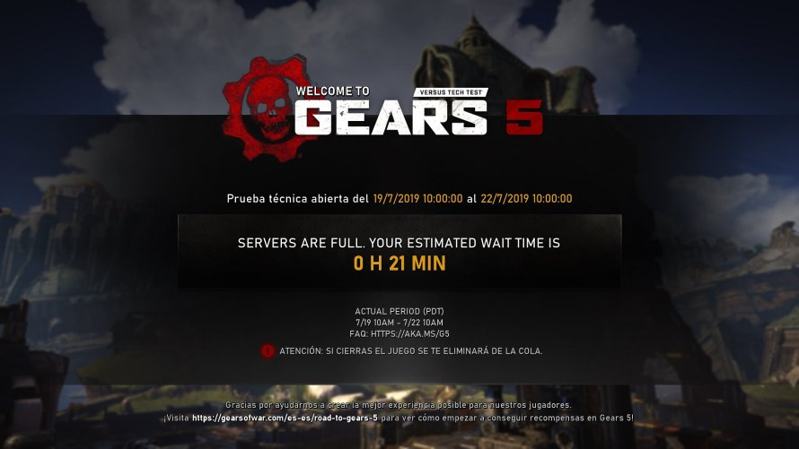 Gears 5 prueba técnica