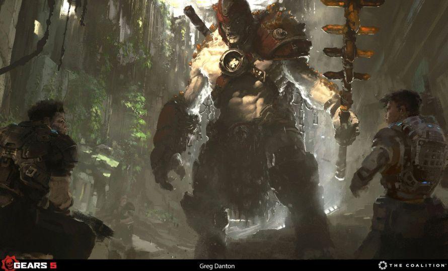 Así es el impresionante arte conceptual de Gears 5