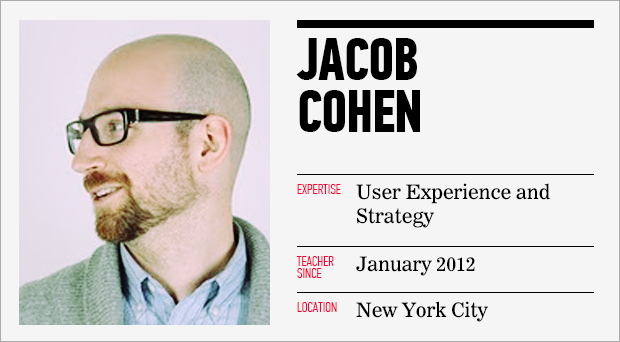 User Experience Design Instructor Jacob Cohen Image