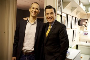 The Colbert bump? In December 2013, Blumberg was a guest on The Colbert Report. And it just got better from there.  Photo credit: NPR.