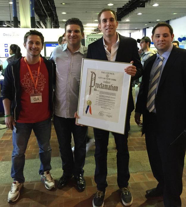 Jay and GA Team with the founders of NY Tech Day.