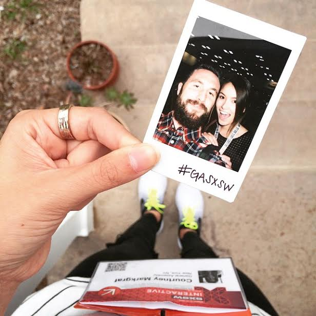 Sweeps winner, Courtney, and her boyfriend at SXSW