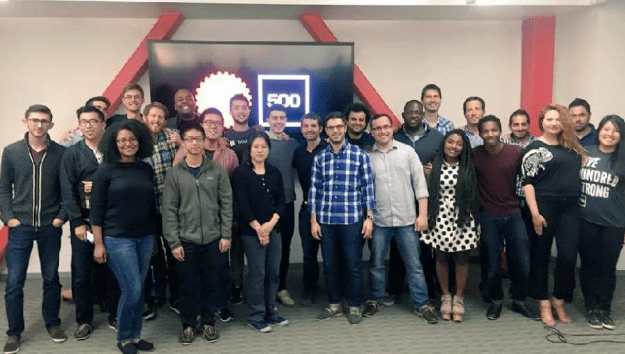 Founders from 11 startups that participated in the GA/500 Startups accelerator program in June in San Francisco.