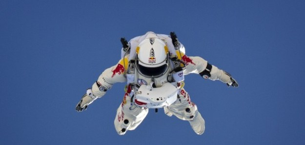Felix Baumgartner skydives 120,000 feet, sponsored by Red Bull. Source: Brightcove Blog