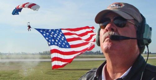 Wayne keeping an eye on the beginning of an airshow.