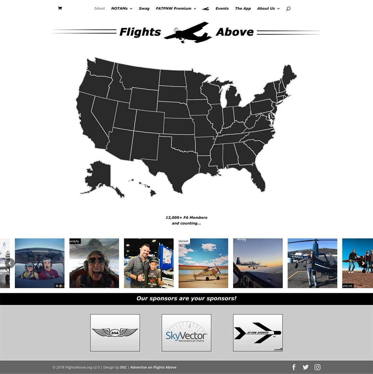 FlightsAbove.org newly launched website update