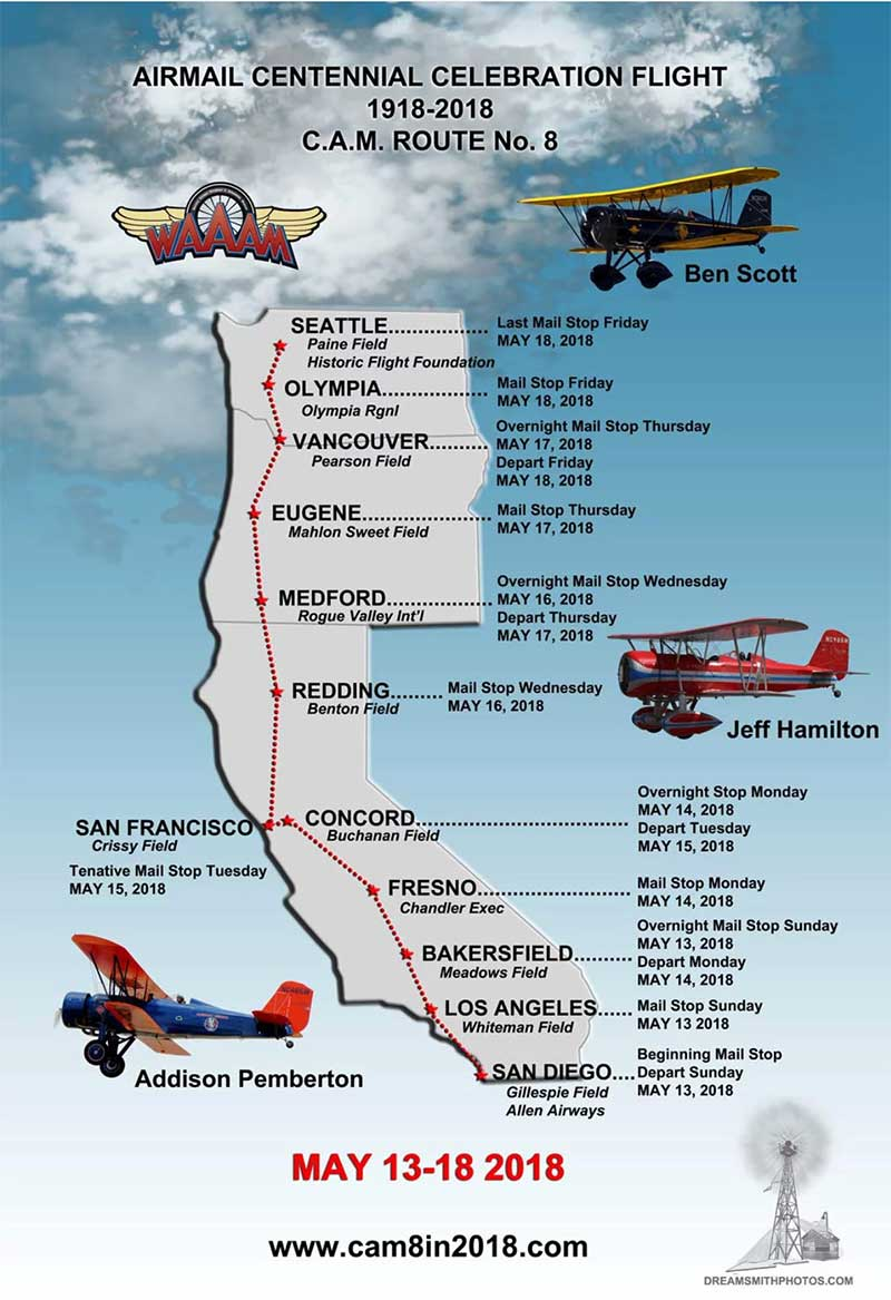 Contract Air Mail Route 8 - 100th Anniversary Celebration Route