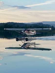 Calm evening for float flying in Montana.