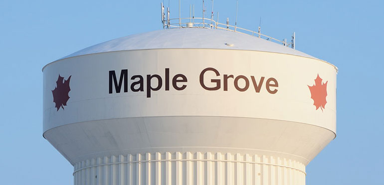 Maple Grove water tower