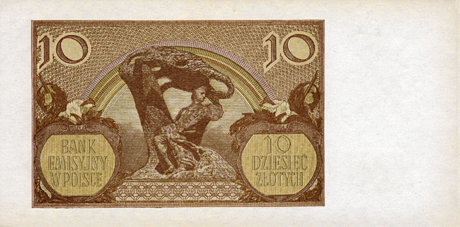 Generalne Gubrnatorstwo banknot 10 złotych 1940 r.