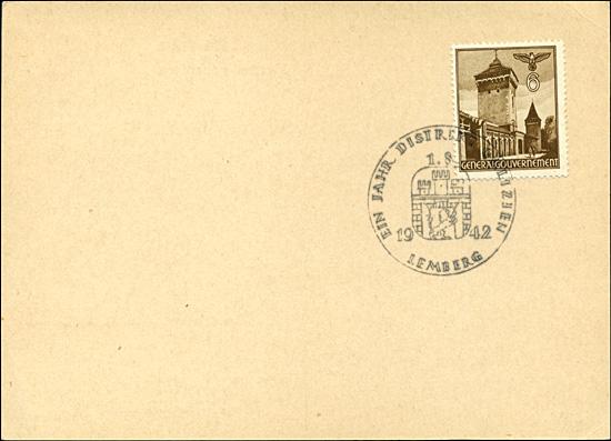 Kasownik 21 Ein Jahr Distrikt Galizien 1. 8. 1942 Lemberg