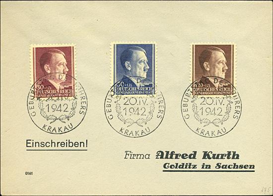 Kasownik nr 20 Geburtstag des Führers Krakau 20. IV. 1942