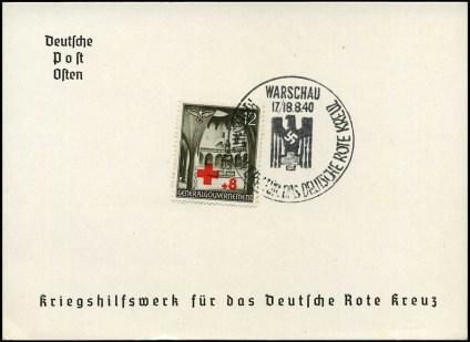 Kasownik 4B. Kriegshilfswerk fur das deutsche Rote Kreuz - Warschau