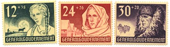 Seria 56-58 1940, 26 października. Wydanie dla uczczenia I rocznicy powstania Generalnego Gubernatorstwa