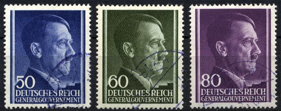 Znaczki GG Seria Fi. 110-112 1943 r. kasowane-0