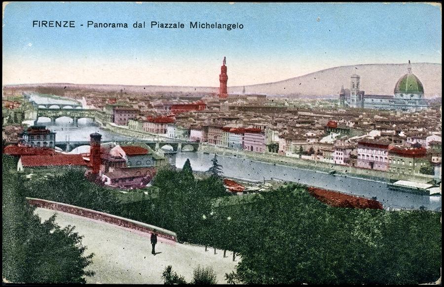 ITALY - FIRENZE - PANORAMA DAL PIAZALLE MICHAELANGELO