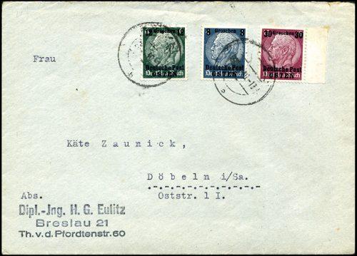 Generalgouvernement list BRESLAU - Döbeln 1940