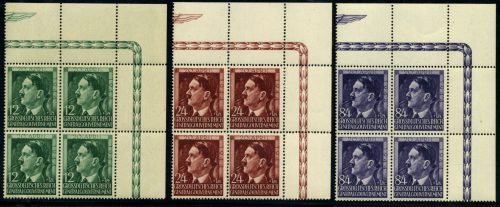 Generalgouvernement Mi. 117-119 1944 czyste ** MNH czwórki