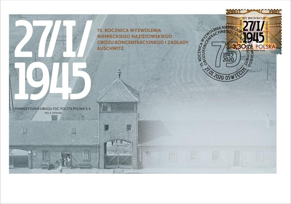 FDC upamiętniające 75-rocznicę wyzwolenia obozu Auschwitz