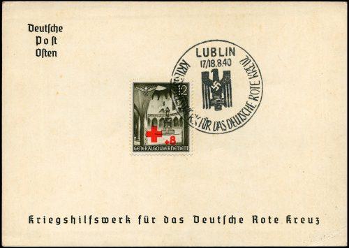 SST - Kasownik nr 4D Kriegshilfswerk fur das deutsche Rote Kreuz 1940 Lublin