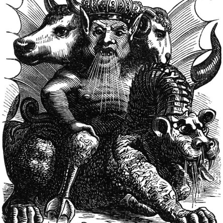 Asmodeus, a King of Demons from the Dictionaire Infernal