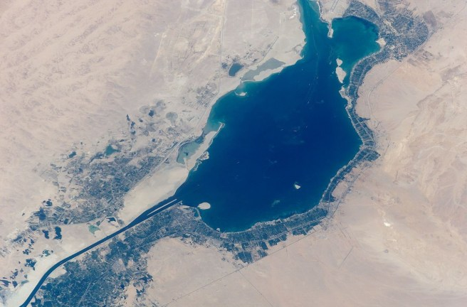 Suez Canal from space